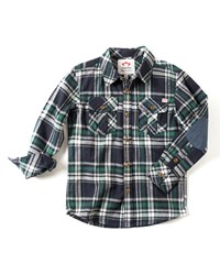 Appaman Patched Elbow Flannel Shirt Size 2 10 Navy