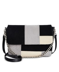 Giani Bernini Suede Patchwork Large Crossbody Only At Macy's Black Multi