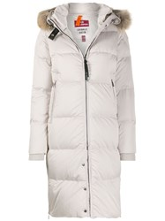Parajumpers Faux Fur Padded Coat White