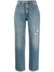 Mcq By Alexander Mcqueen Faded Straight Leg Jeans Blue