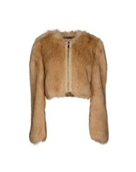 Elisabetta Franchi Gold Coats And Jackets Faux Furs Women