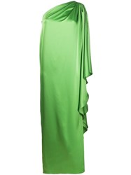 Gianluca Capannolo One Shoulder Satin Gown 60