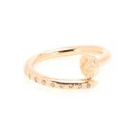 Roberto Marroni 18Kt Gold Big Nail Ring With Diamonds Red Gold Polish