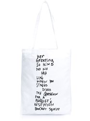 Etudes Studio A Tudes Studio Quote Print Tote Bag White