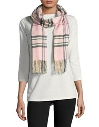 Lord And Taylor Plaid Scarf Ivory
