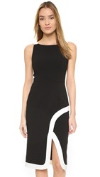 Black Halo Fatima Sheath Dress Black Porcelain