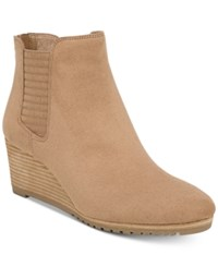 Dr. Scholl's Critic Wedge Booties Toasted Coconut Microfiber