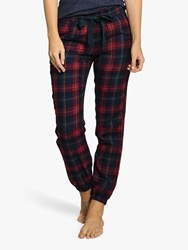 Fat Face Perth Check Pyjama Bottoms Red Blue