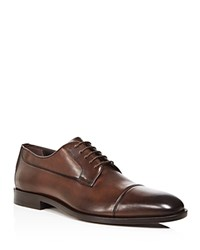 Canali Stock Cap Toe Derby Shoes Brown