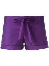 Otis Batterbee Bow Pyjama Shorts Pink Purple