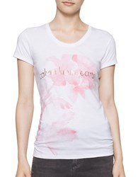 Calvin Klein Flower Logo Cotton Tee White