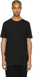 The Viridi Anne Black Layered Pocket T Shirt
