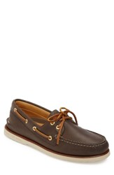 Sperry 'Gold Cup Authentic Original' Boat Shoe Dark Brown Leather