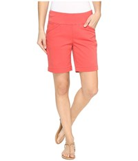 Jag Jeans Ainsley Pull On 8 Shorts In Bay Twill Coral Spice Women's Shorts Orange