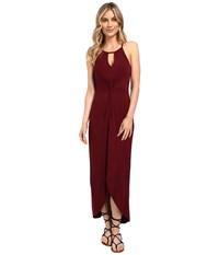 Culture Phit Haidie Front Twist Keyhole Maxi Dress Dark Wine Women's Dress Multi