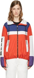 Msgm Red Parachute Windbreaker Jacket