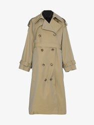 Juun.J Oversized Layered Trench Coat Nude And Neutrals