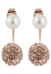 Sweet Deluxe Caligari Earrings Rosegoldcoloured Peach Pearl Rose Gold