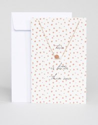 Pieces Lala Delicate Gift Card Necklace Rose Gold
