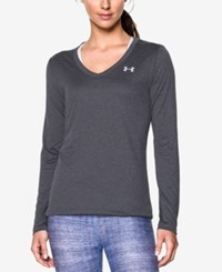 Under Armour Ua Tech Long Sleeve Top Carbon Heather