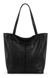 Elliott Lucca 'All Day' Leather Tote Black Black Sumatra