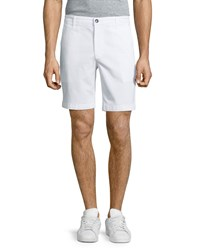 Ag Adriano Goldschmied Wanderer Flat Front Shorts White Men's