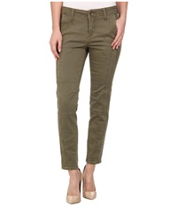 Kut From The Kloth Angelina Moto Ankle Skinny Olive Women's Jeans