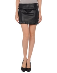 Guess By Marciano Leather Skirts Black