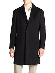 Saks Fifth Avenue Collection Wool And Cashmere Coat Black