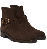 Tom Ford Buckled Suede Boots