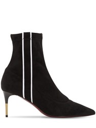 Ernesto Esposito 70Mm Stretch Faux Suede Ankle Boots Black