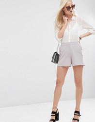 Asos Tailored A Line Shorts Silver