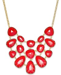 Charter Club Gold Tone Colored Stone Statement Necklace Only At Macy's