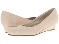 Trotters Lauren Nude 3D Patent Suede Leather Women's Slip On Dress Shoes Beige