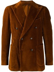 Tagliatore Double Buttoned Blazer Brown