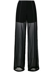 Dkny Sheer Relaxed Trousers Black