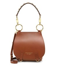 Burberry The Bridle Leather Shoulder Bag Brown