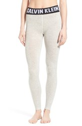 Women's Calvin Klein 'Retro' Logo Leggings Grey