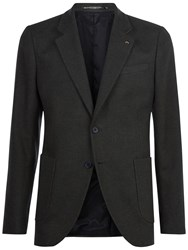 Jaeger Brushed Cotton Slim Fit Blazer Olive