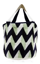 Sophie Anderson Large Zig Zag Shopping Bag Multi
