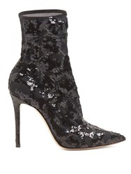 Gianvito Rossi Sequin Embellished 105 Ankle Boots Black