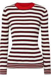Chinti And Parker Striped Ribbed Cotton Sweater Cream