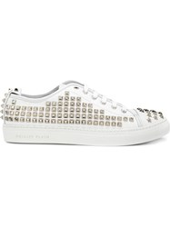 Philipp Plein Studded Sneakers White