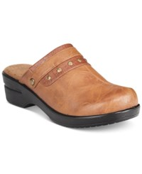 Easy Street Shoes Ozone Mules Women's Tan Combo