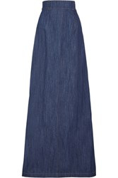 Miu Miu Denim Maxi Skirt Dark Denim