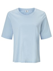 John Lewis Kin By Seam Detail Cotton T Shirt Blue