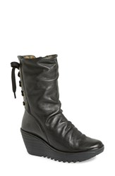 Women's Fly London 'Yada' Boot Black Mousse Leather