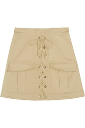 Roberto Cavalli Stretch Cotton Twill Mini Skirt