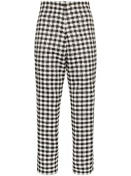 Paskal Gingham Cropped Trousers Black