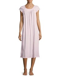 Miss Elaine Embroidered Cap Sleeved Sleep Dress Pink